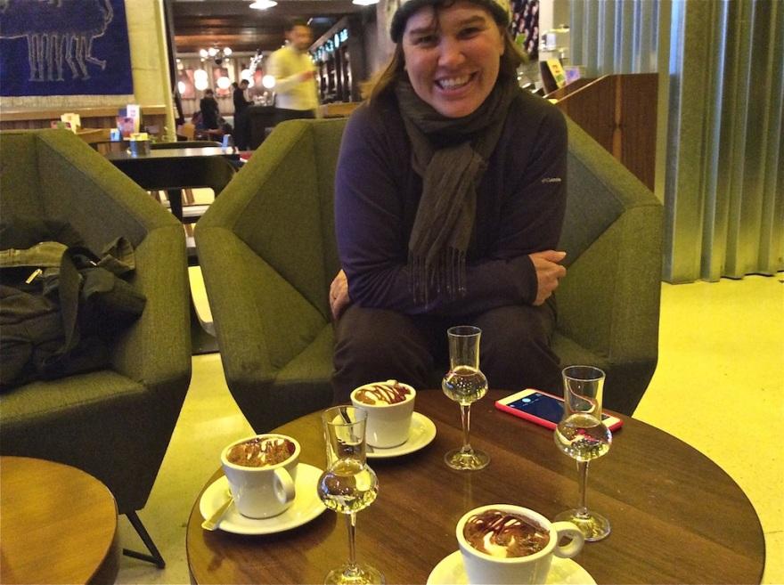 Not only coffee but Raki aperitifs, too