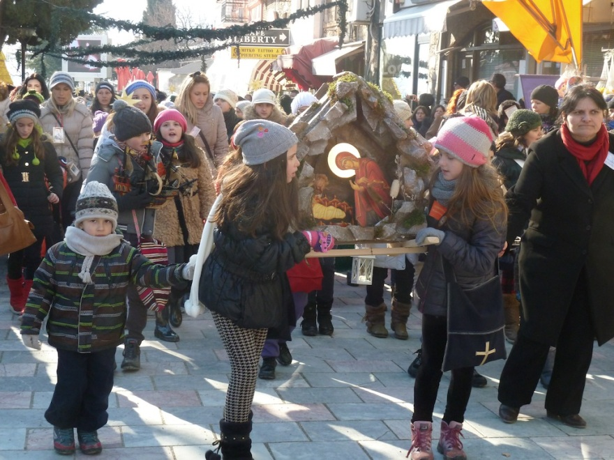 Christmas procession