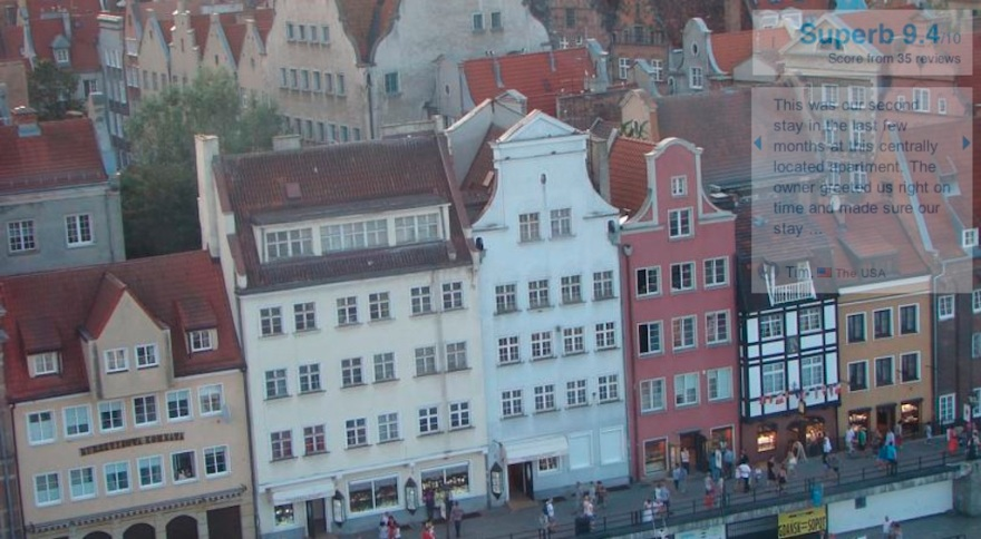 Our downtown hotel in Gdansk (Danzig)