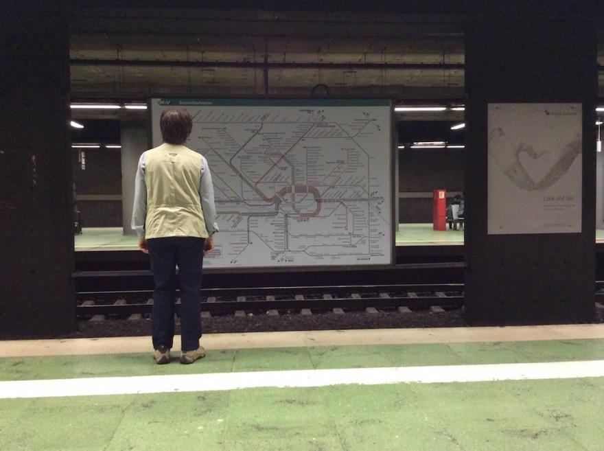Tangled subway map