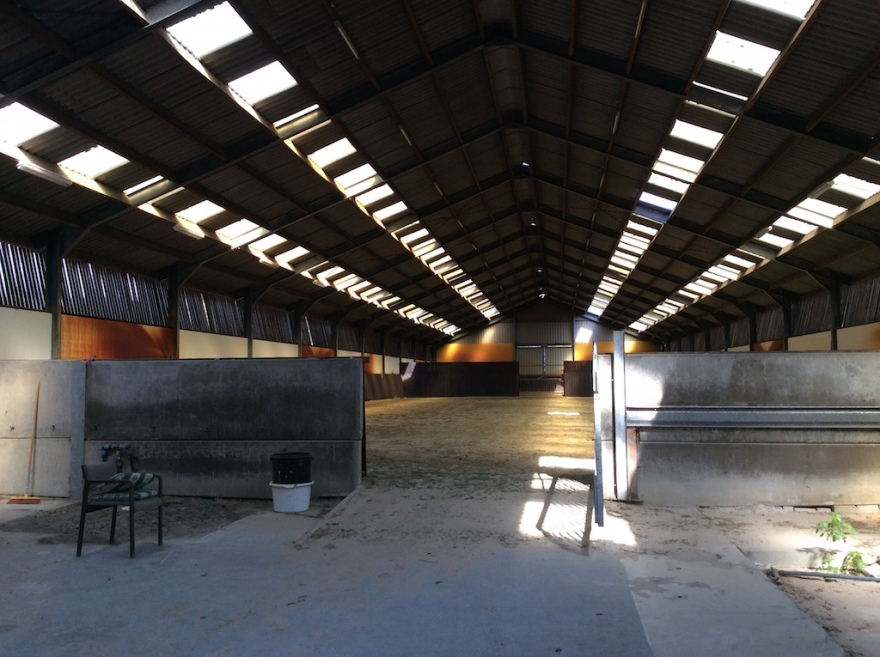 Here's the indoor arena.