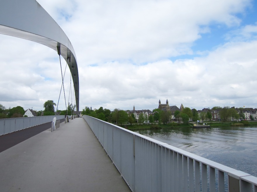 Pedestrian bridge over the Maas River