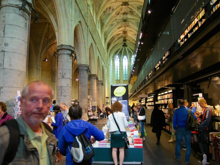 Massive bookstore fills the Gothic church building