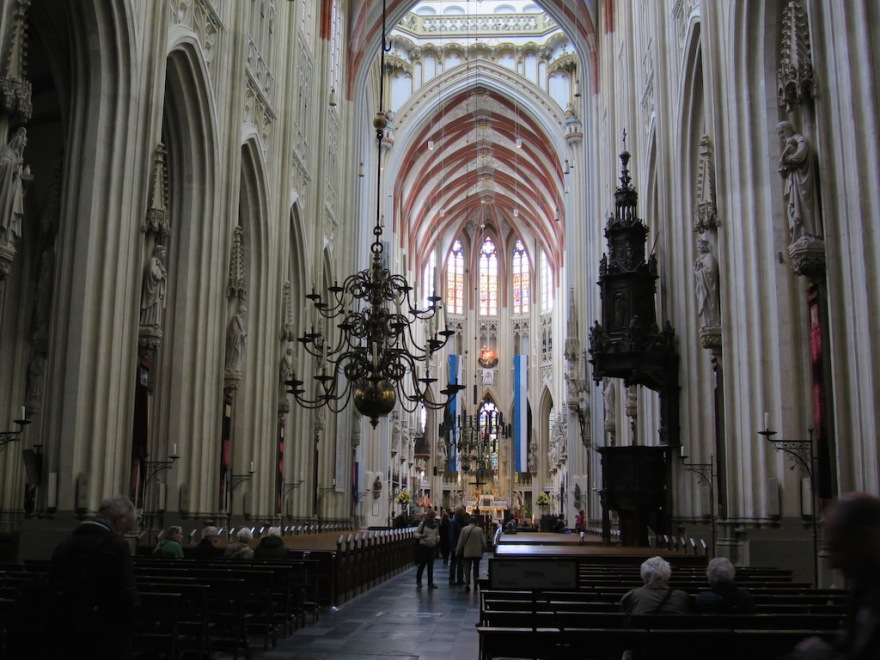 This cathedral is the height of Gothic architecture in the Netherlands.