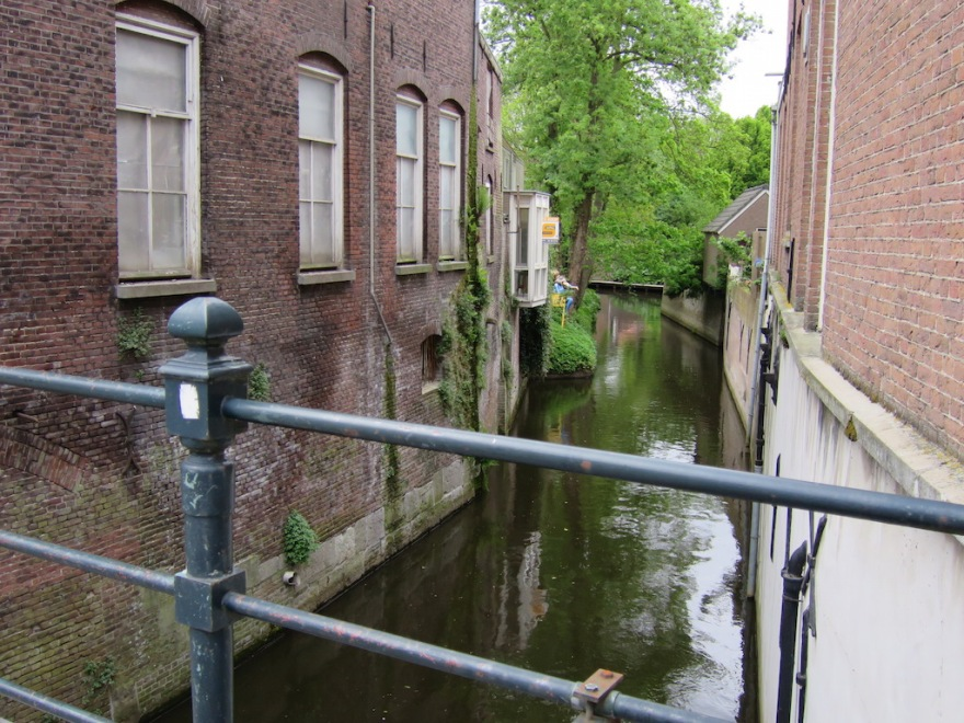 Canals flow here and there through the town.