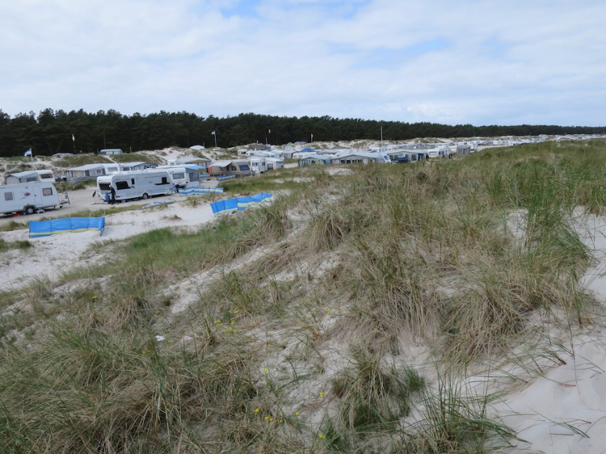 Campground behind the dunes