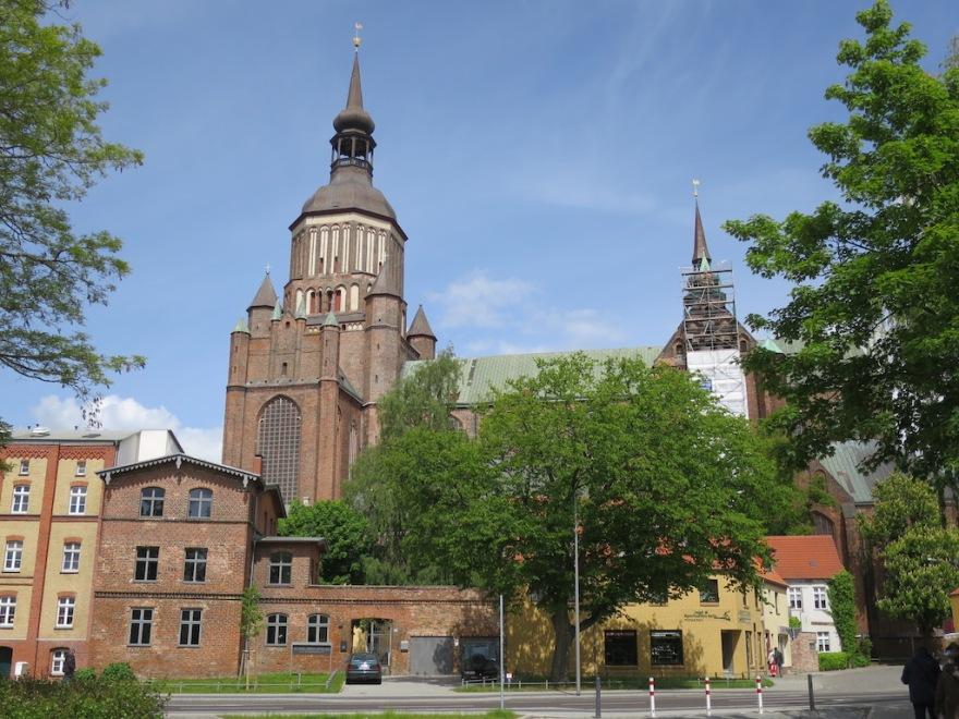 Brick church neat the city wall