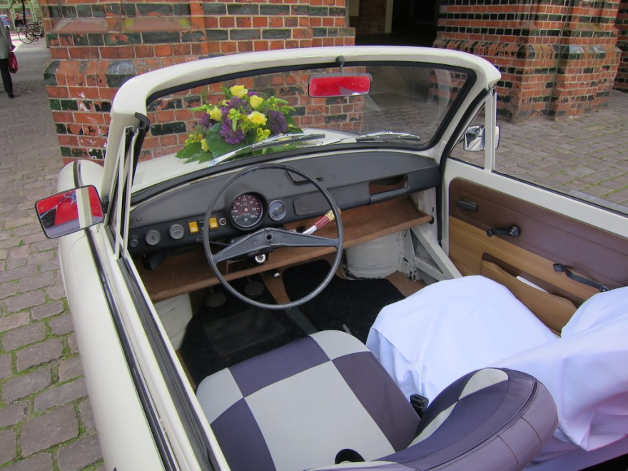 The austere Trabant interior