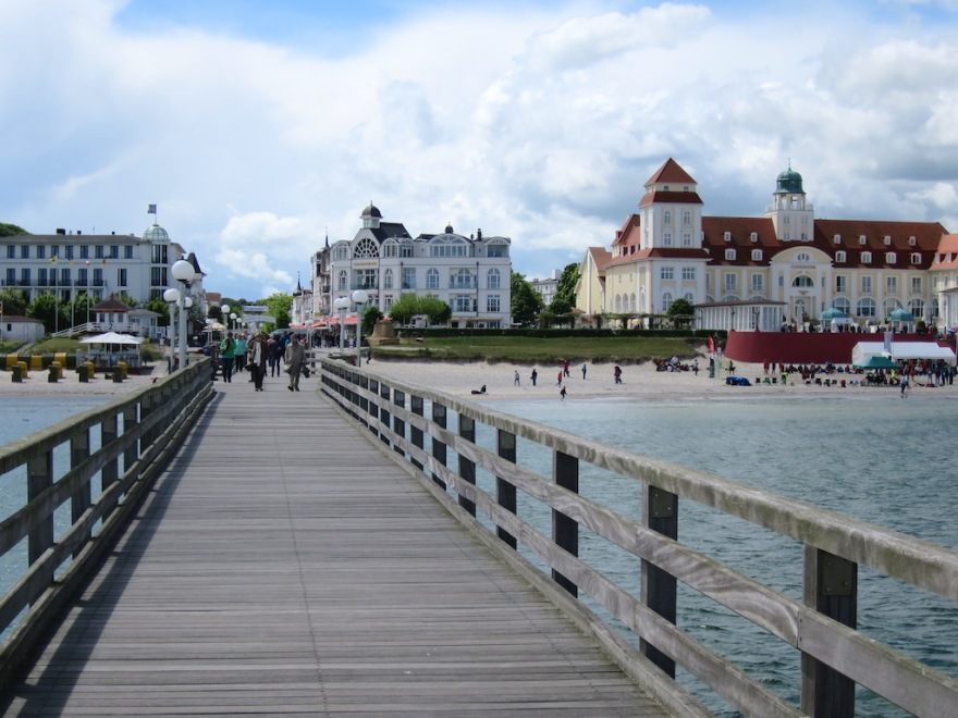 A view from the pier to the heart of town