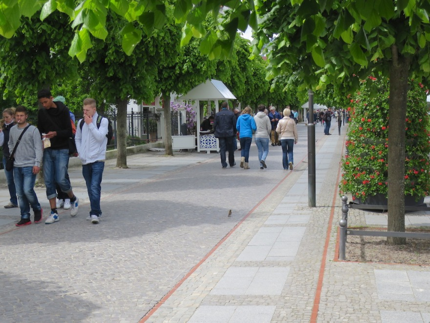 We liked the leafy promenade following the beach