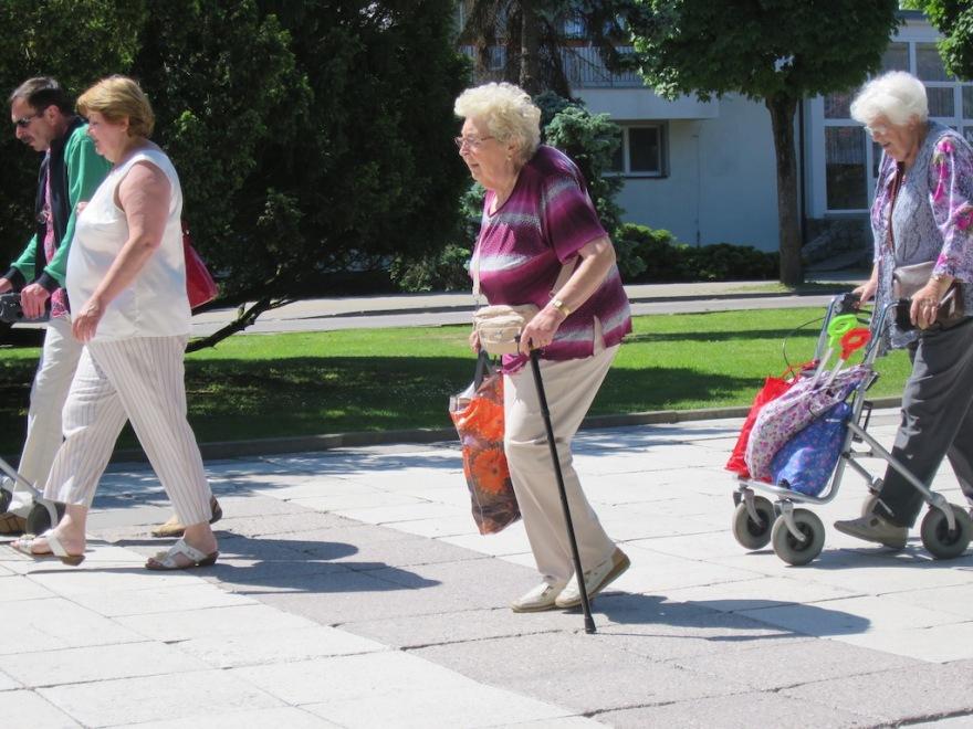 The elderly do it, too.
