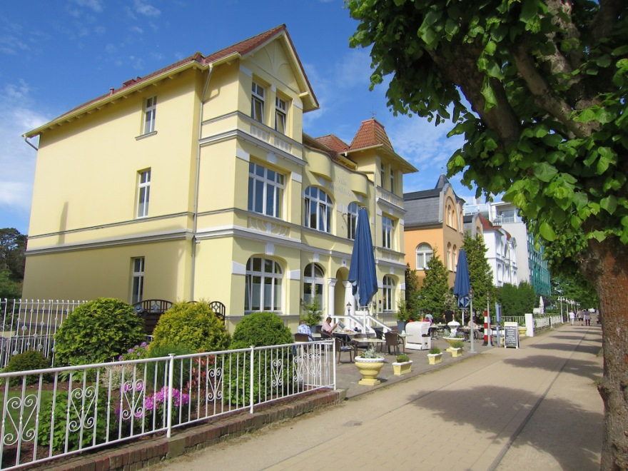 Our turn-of-the-century accommodations overlooking the Baltic Sea