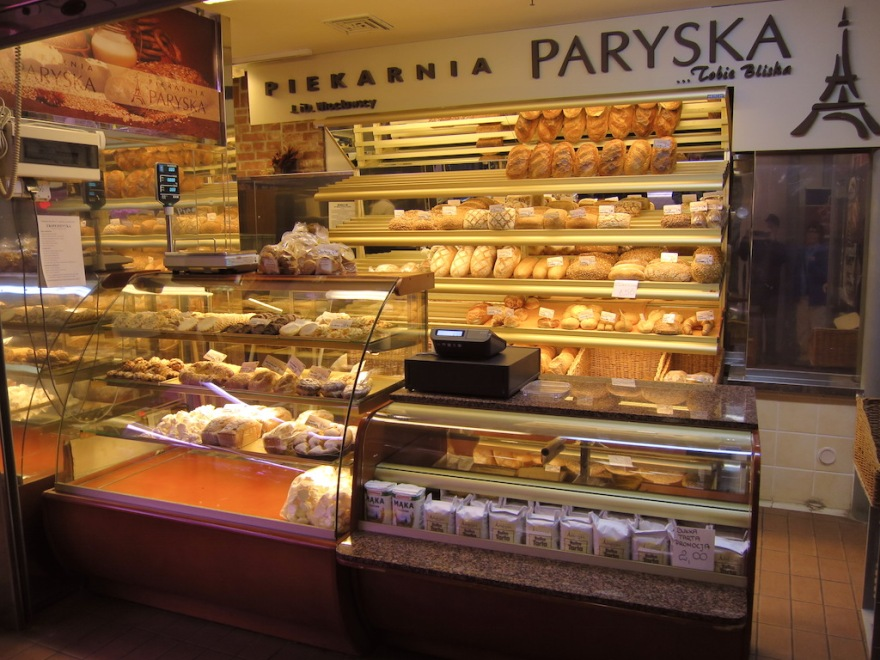 Bakeries have an assortment of white breads