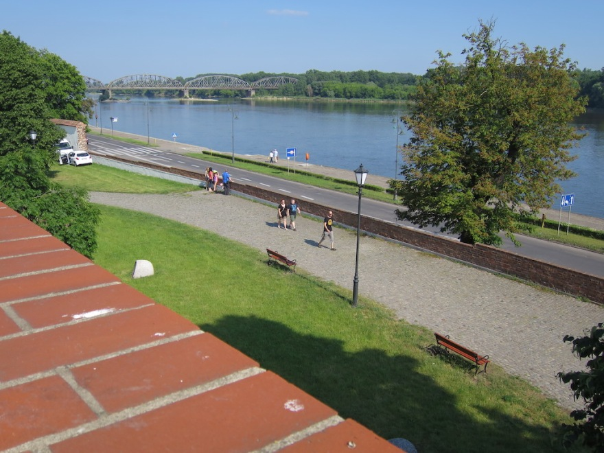 View of the Vistula river from the fortress wall