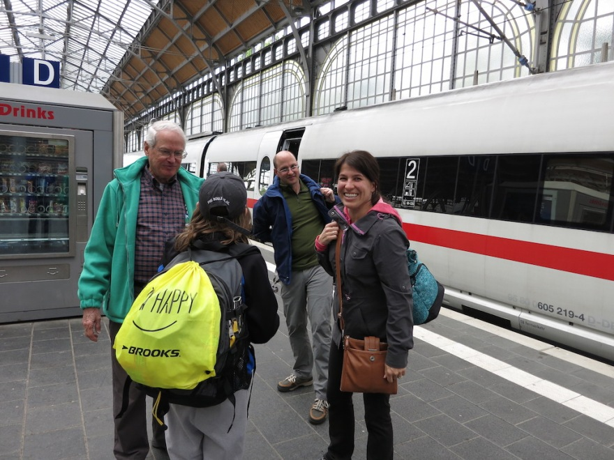 The train station, the natural place for travelers to meet