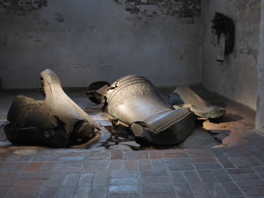 Main church bells fell when the church burned.