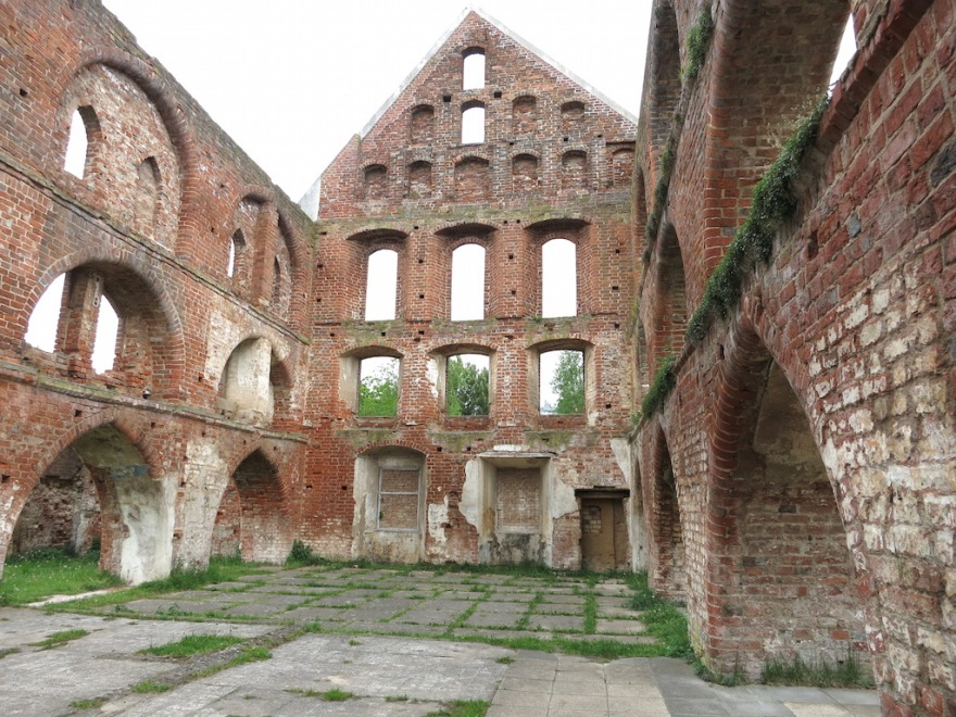 Ruins on the abbey property