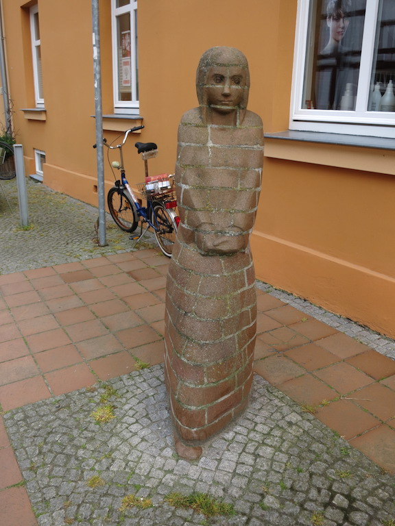 Unusual brick sculpture