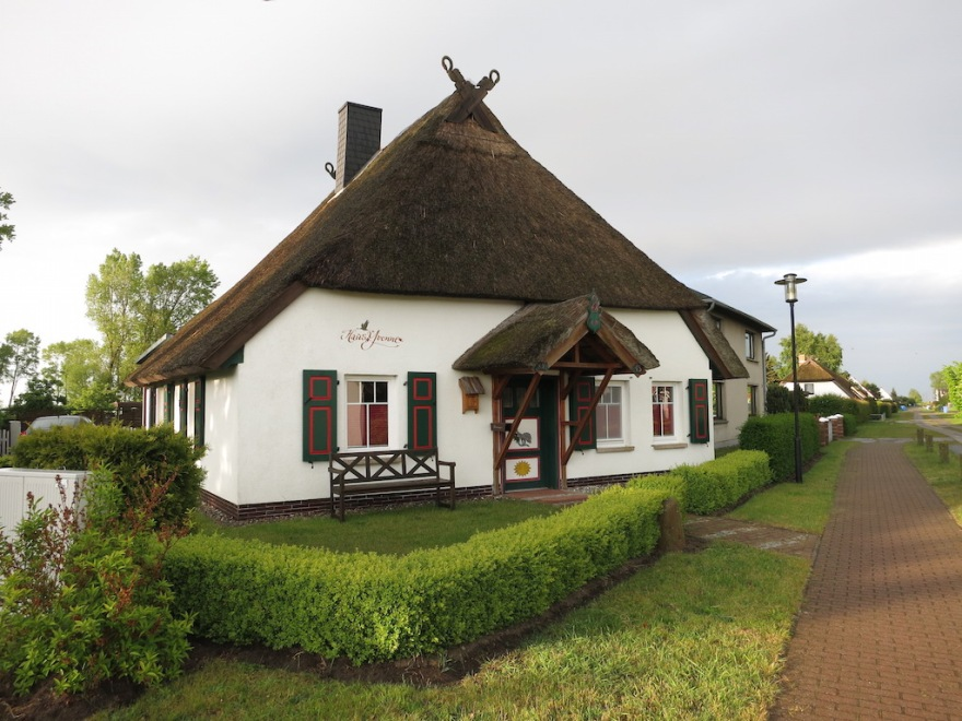 Typical thatch-roofed house on the north coast