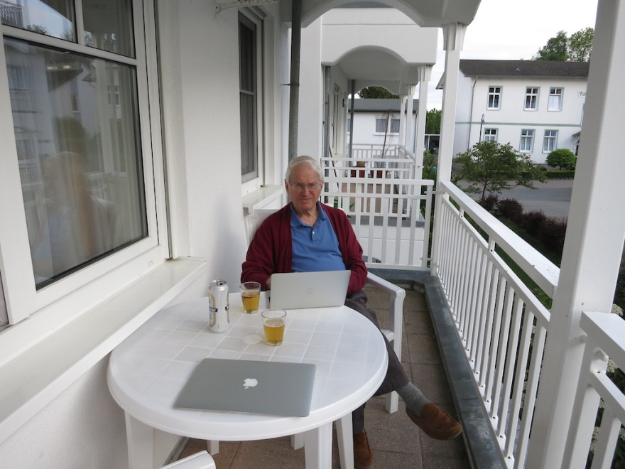 We enjoyed the fast internet connection, even from our balcony.