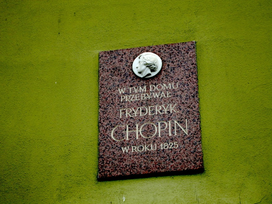 Chopin slept here - well, he actually spent a summer here in his youth.