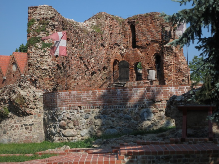 Fortress remains from the days of the Teutonic Knights