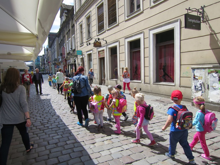 So many school children were on field trips every day toward the end of the school year.