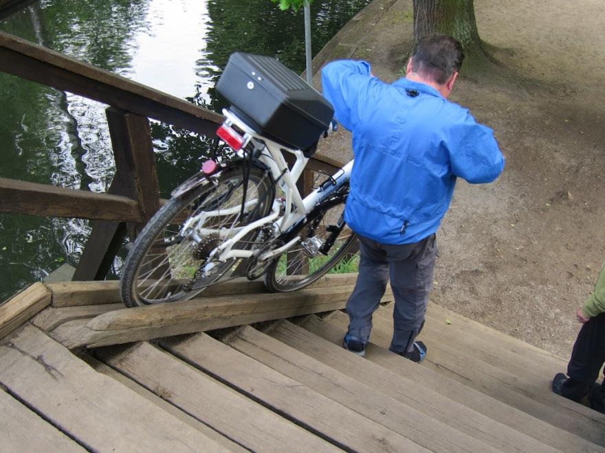 Tiding a bike has its moments.