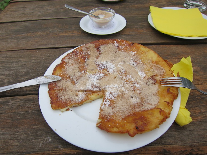 Couldn't resist the warm apple pancake