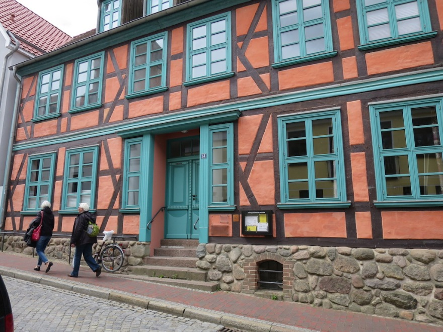 We passed many a fine half-timbered buildings.