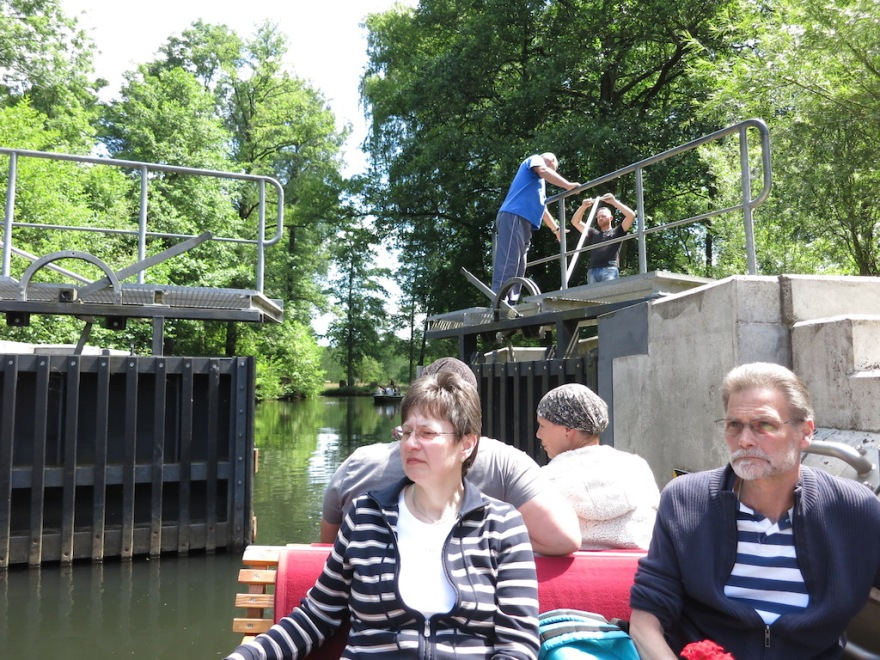 Occasionally we went through a lock, manned by volunteers. Tips were welcome.