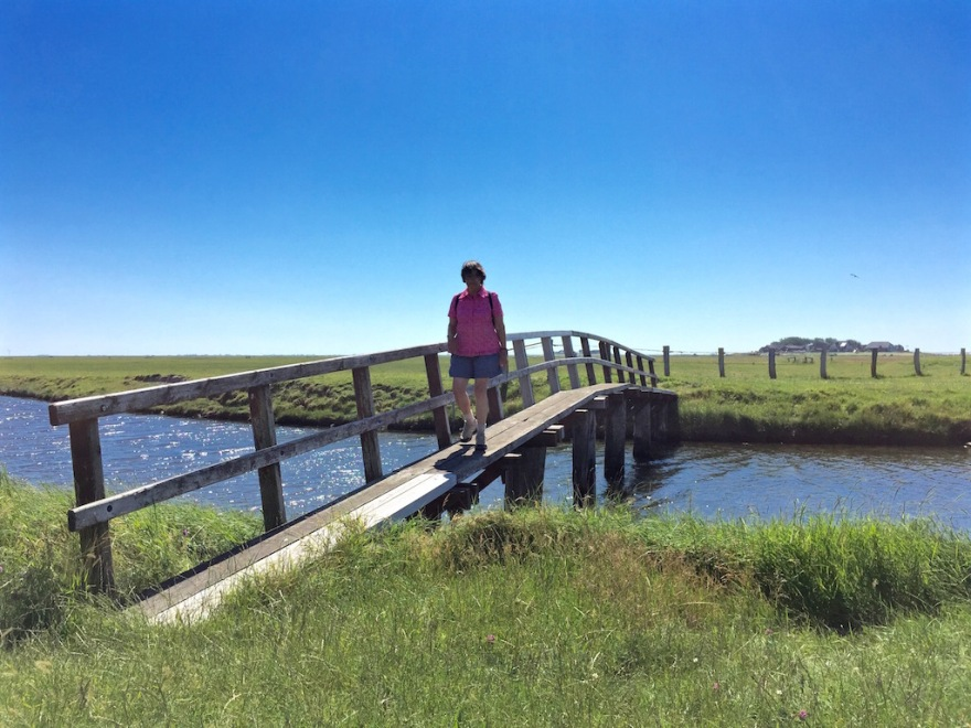 One of the most photographed bridges on the Hallig