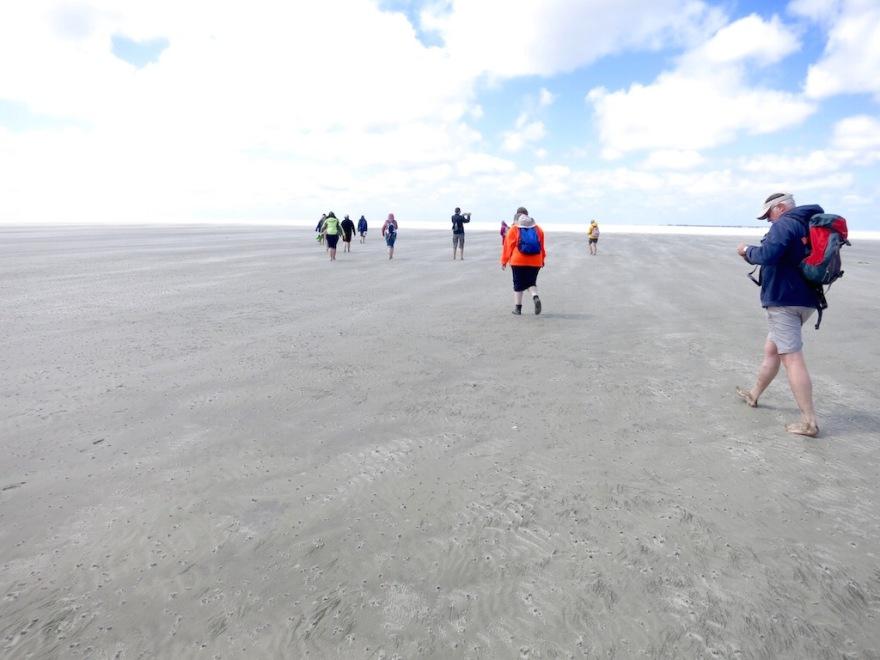Hard sand underfoot