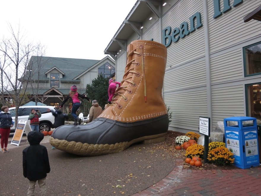 LL Bean main store, noted for this type boot for the past 100 years.
