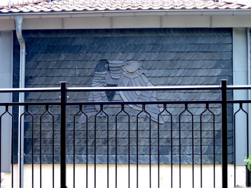 Slate decoration on a nearby house.