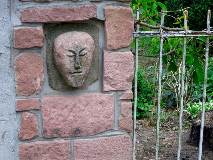 Mask on fence gate post