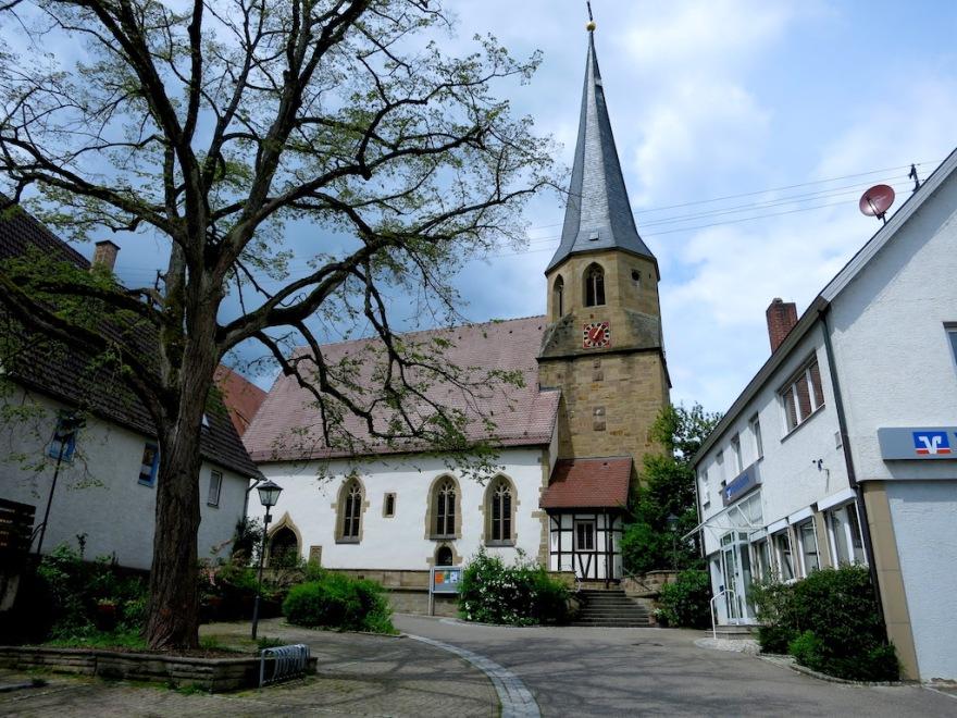 The protestant church where Johann married.