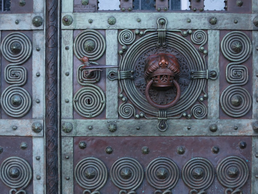 Detail of door's metal work