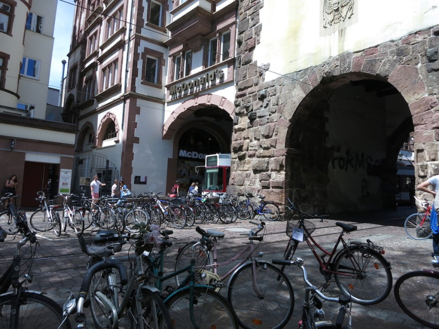 Bikes parked at Martin Tor, old city gate.
