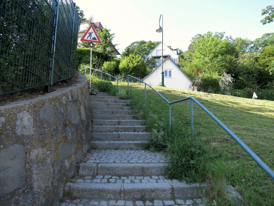 Lots of steep stairs to climb