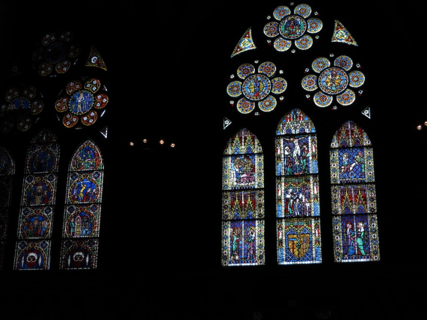 Freiburg Munster's (Cathedral) ancient stained glass windows