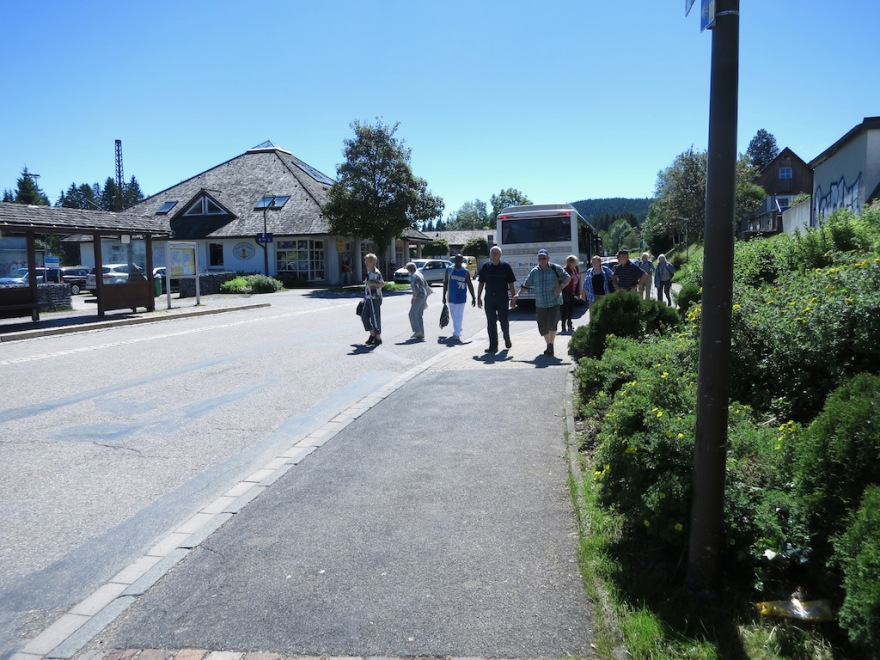 Our bus disgorges its passengers at the Hinterzarten train station