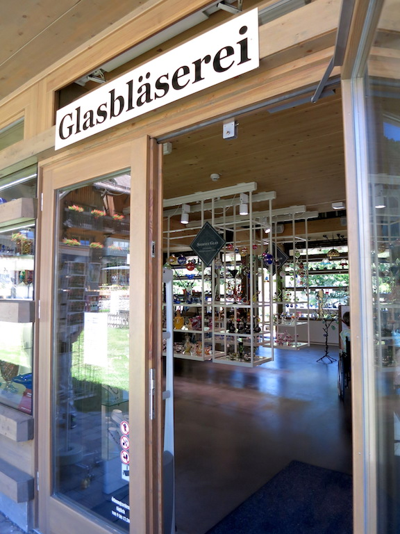 The glassblowers building and retail shop