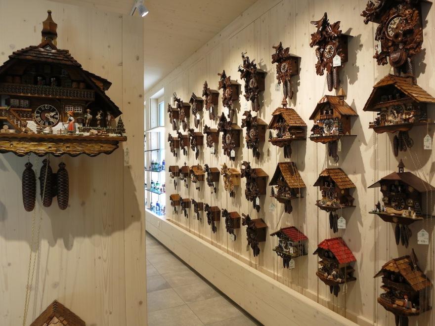Great selection of cuckoo clocks, starting at $500.