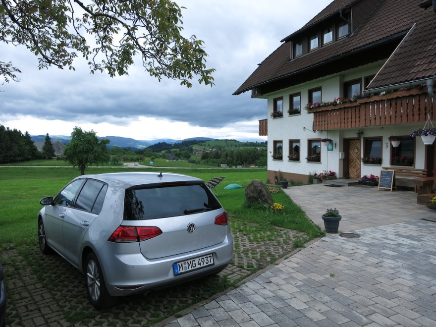 Our location for three weeks and our car