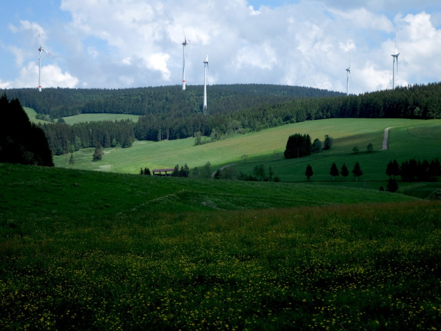 Wind turbines at the pass.