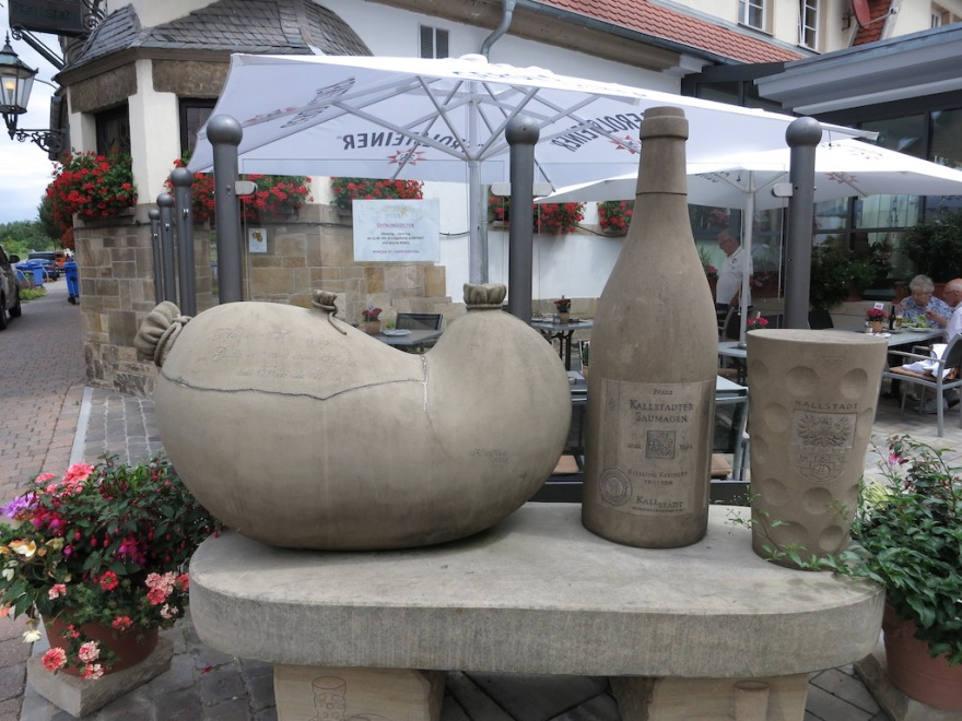 Pig stomach and wine, the town's claim to gastronomic fame.
