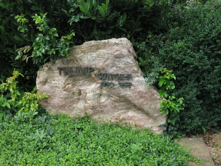 Trump headstone