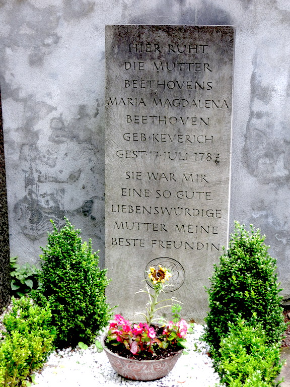 The gravestone of Beethoven's mother