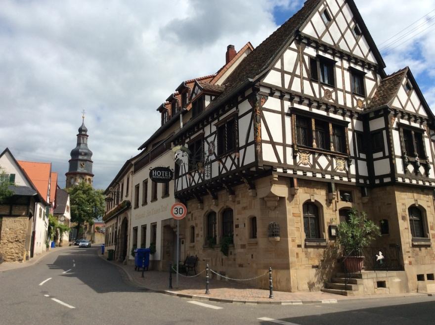 Downtown Kallstadt, home of Trump and Heinz.